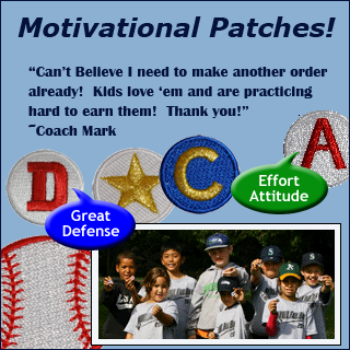 Motivational Baseball Patches