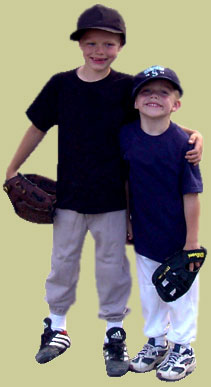 image of boys after playing in a youth baseball game