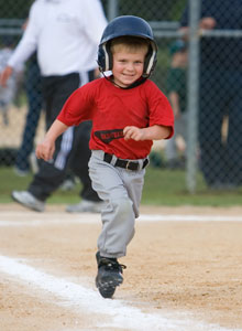 young baserunner