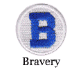 bravery motivational patch