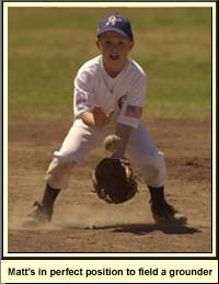 fielding a ground ball